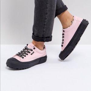 Vans x Lazy Oaf pink sneakers